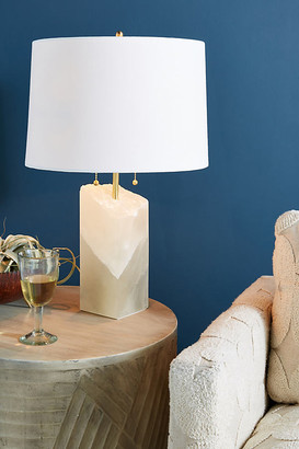 Anthropologie Alabaster Table Lamp By in Beige Size ALL