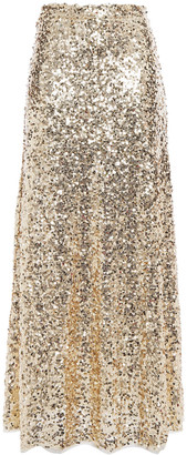 Antik Batik Sequined Tulle Maxi Skirt
