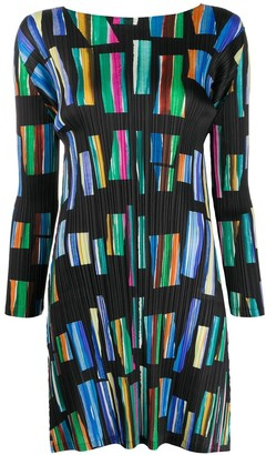 Pleats Please Issey Miyake Hopscotch Colours mini dress