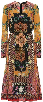 Etro Printed silk midi dress