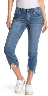 STS Blue Distressed High Rise Straight Leg Crop Jeans