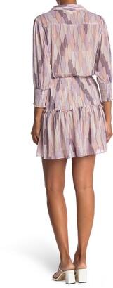 Love Stitch Geo Printed Chiffon Dress