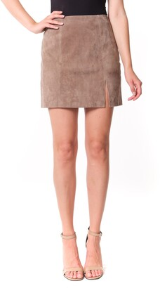 Blank NYC Suede Miniskirt