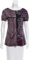 Alberta Ferretti Printed Short Sleeve Top