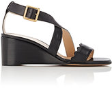 Chloé Women's Scallop-Detailed Wedge Sandals-BLACK