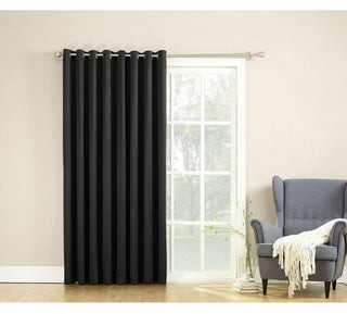 Porch & Den Nantahala Rod Pocket Room Darkening Patio Door Single Curtain Panel