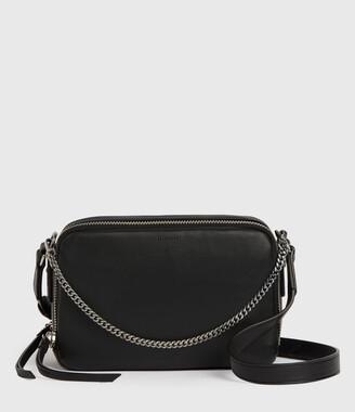 AllSaints Rosemary Square Leather Crossbody Bag
