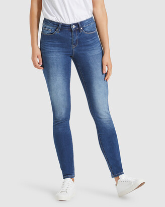 Jeanswest Women's Blue Skinny - Butt Lifter Skinny Jeans Mid Sapphire - Size One Size, 20 Long at The Iconic