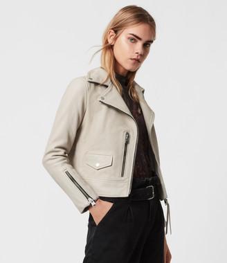 AllSaints Kara Leather Biker Jacket