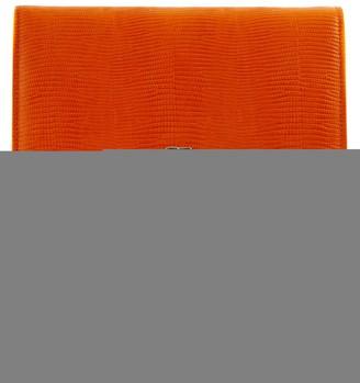 Giuseppe Zanotti Orange Lizard-print Leather Cross Body Bag