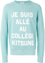 MAISON KITSUNÉ French text print sweatshirt