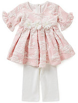 Bonnie Jean Bonnie Baby Baby Girls Newborn-24 Months Jacquard Dress & Knit Leggings Set