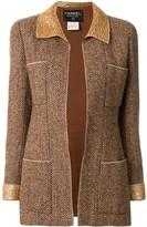 Chanel Pre Owned 1996 metallic trim tweed jacket