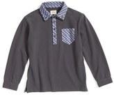 Armani Junior Boy's Long Sleeve Pique Polo