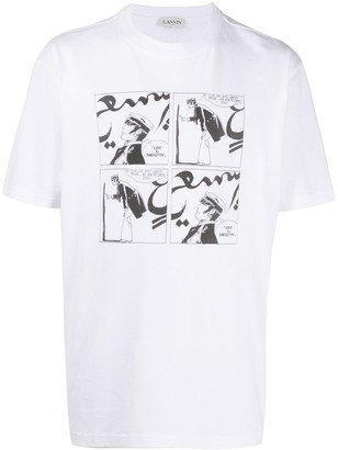 Lanvin Printed Crew Neck T-Shirt