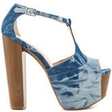 Jessica Simpson Dany Women US 8 Blue Peep Toe Platform Heel