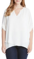 Karen Kane Plus Size Women's Popover Blouse