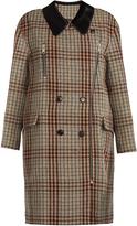 Isabel Marant Friso checked contrast-collar oversized coat