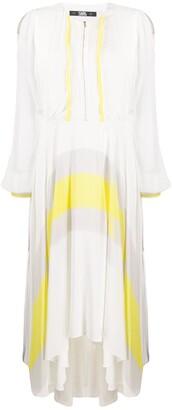 Karl Lagerfeld Paris Flared Circle Print Dress