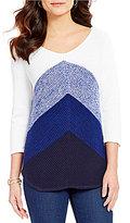Westbound 3/4 Sleeve V-Neck Sweater