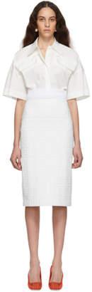 Fendi White Leather Forever Skirt