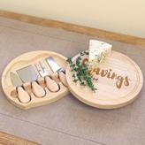 """""""Cravings"""" 8 in. Wood Gourmet 5-Piece Cheese Board Set"""