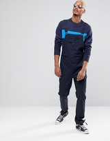 Asos Overalls With Pocket Details In Navy