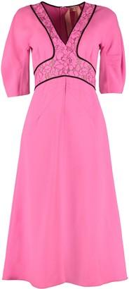 N°21 N.21 Lace Detail Crepe Dress