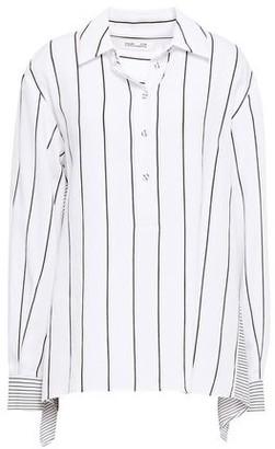 Diane von Furstenberg Striped Crepe Shirt
