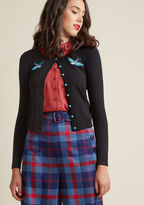 Collectif She Swoops, She Scores Cardigan in XS - Long Waist by Collectif from ModCloth