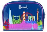 Harrods Bright Skyline Cosmetics Bag