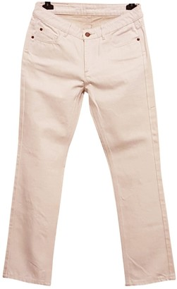 Comptoir des Cotonniers Ecru Cotton Jeans for Women