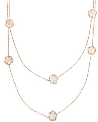 Mother of Pearl Cosanuova Rose Clover Necklace