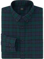 Uniqlo Men Flannel Blackwatch Check Long Sleeve Shirt
