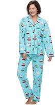 Star & Skye Women's Star & Skye Pajamas: Flannel Top & Pants PJ Set
