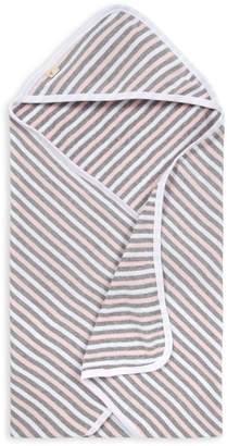 Burt's Bees Striped Organic Baby Hooded Towel