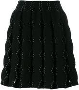 Alaia scallop pleat skirt