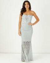 Lipsy Vip Embellished Lace Bandeau Maxi Dress