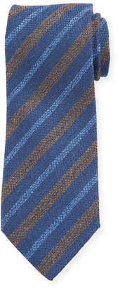 Charvet Men's Silk Diagonal Stripe Tie