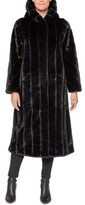Thumbnail for your product : Jones New York Hooded Faux-Fur Maxi Coat