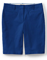 "Classic Women's Mid Rise 10"" Chino Bermuda Shorts-Bright Sapphire Medallion"