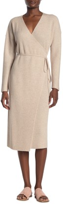 Vince Cashmere & Wool Blend Wrap Dress