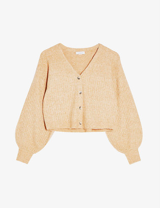 Topshop V-neck ribbed-knit cardigan