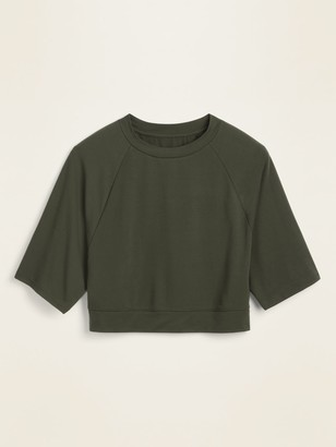 Old Navy Lightweight French Terry Crop Top for Women