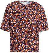 MSGM Floral-Print Cotton-Faille Top