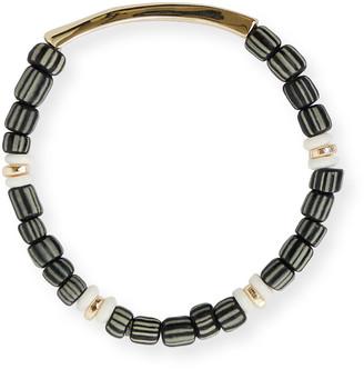 Akola Fearless Inspiration Gold & Beaded Stretch Bracelet