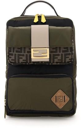 Fendi FF Motif Baguette Pocket Backpack