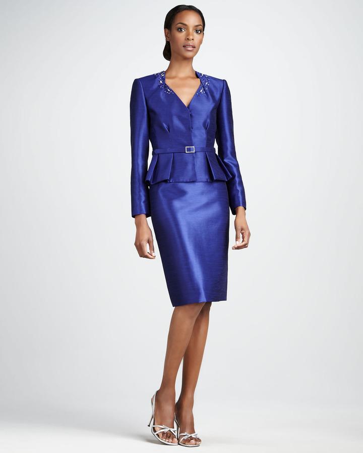 Tahari Beaded Suit