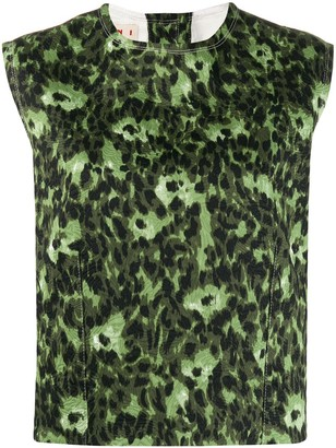 Marni Abstract-Print Tank Top