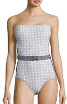 MICHAEL Michael Kors Patterned One-Piece Bandeau Swimsuit